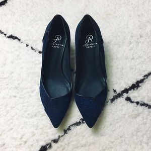 Adrianna Papell vintage style sparkle heels Size 7